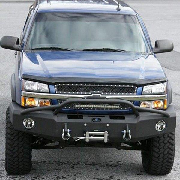 03 Chevy Front Bumpers : Chevrolet silverado bumper full width black