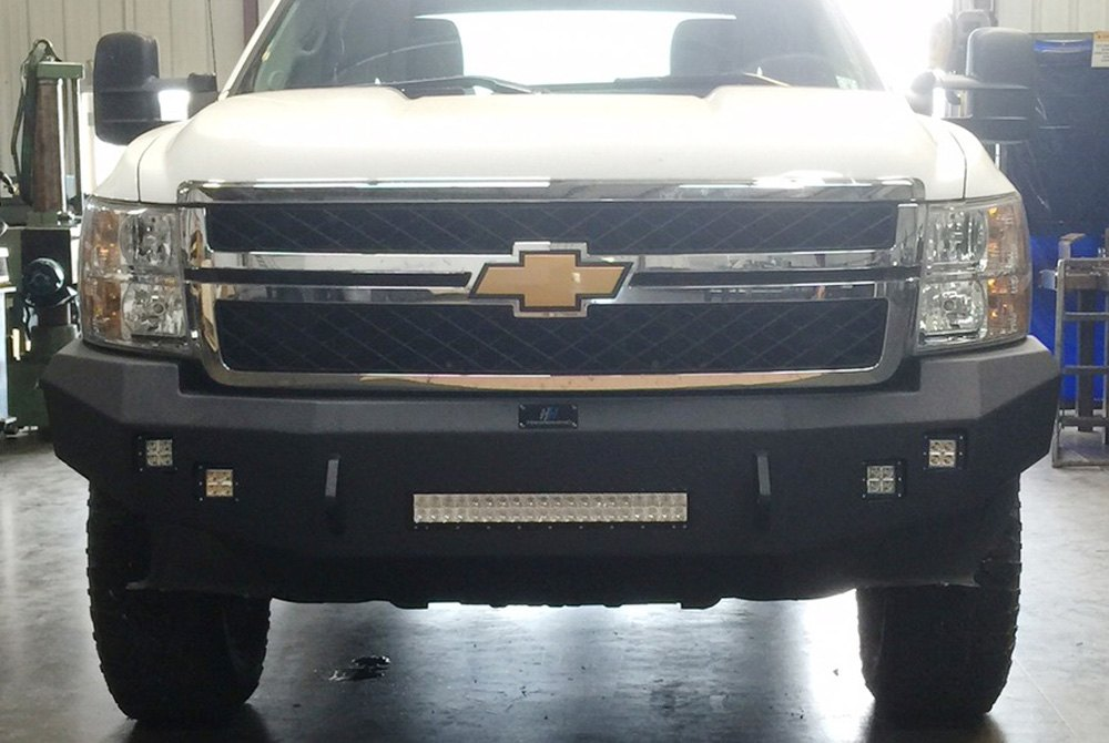 hammerhead chevy silverado 2014 low profile front bumper without grillguard. Black Bedroom Furniture Sets. Home Design Ideas