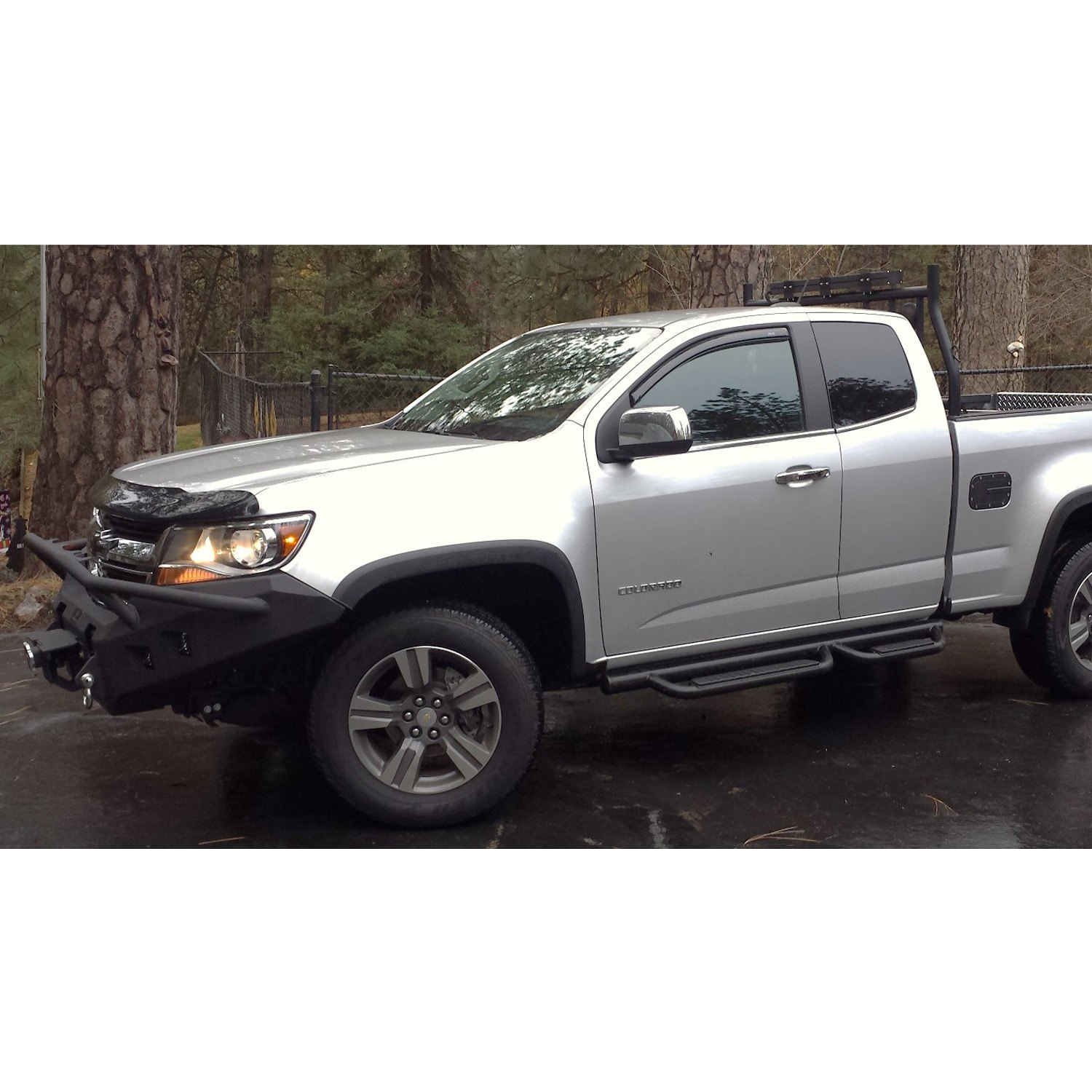 hammerhead chevy colorado 2016 full width black front winch hd bumper with pre runner guard. Black Bedroom Furniture Sets. Home Design Ideas