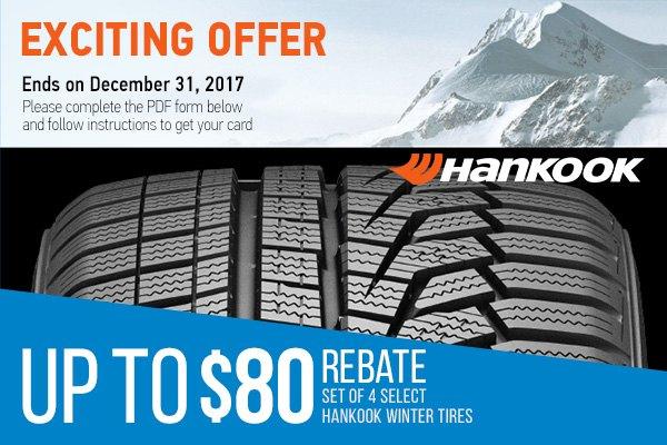 Hankook tires discount coupons
