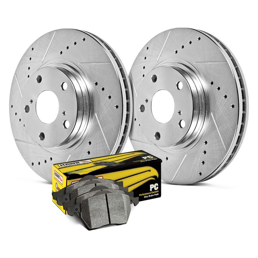 Brake Rotor Material : Hk z hawk sector pc drilled and slotted front