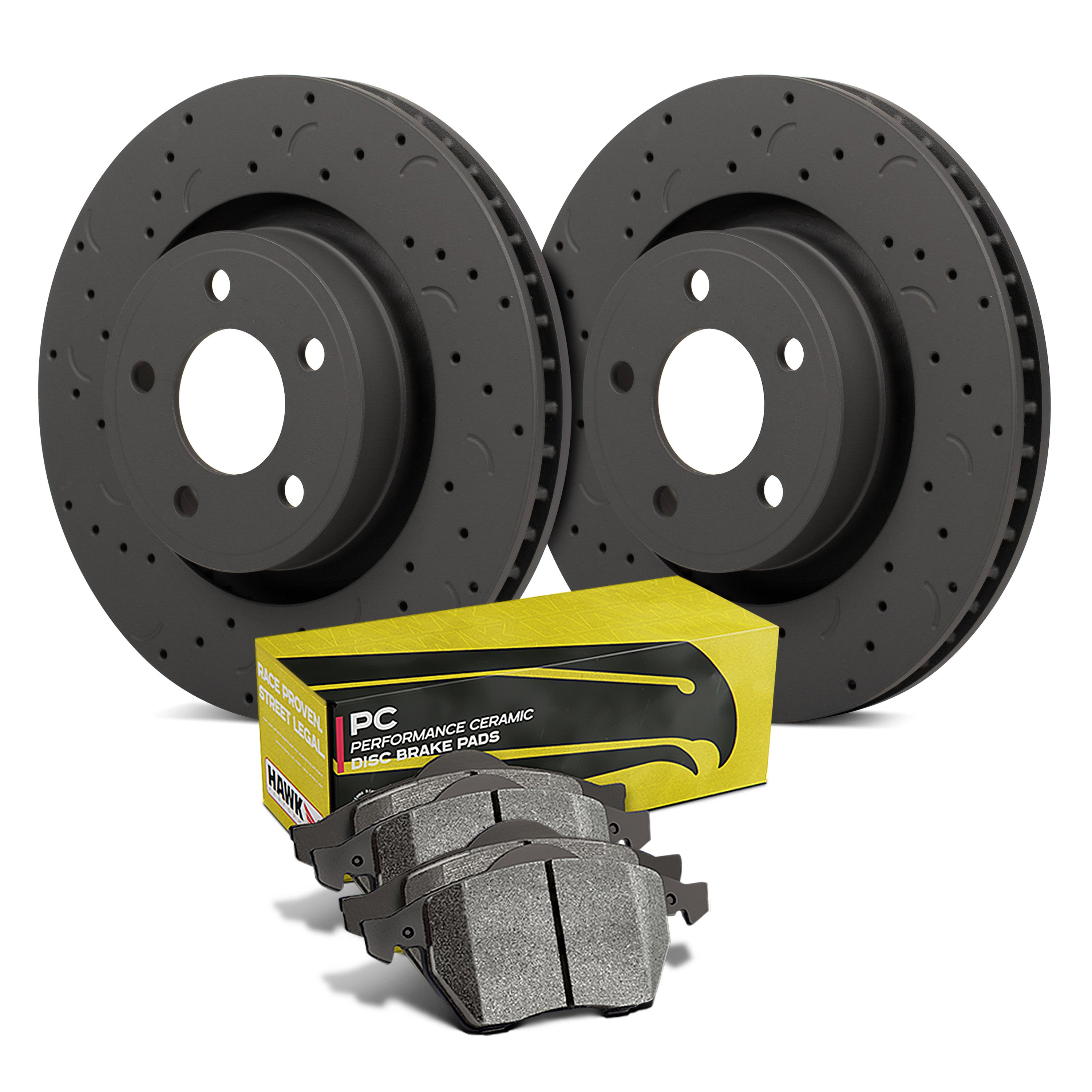 MINI ONE DIESEL COOPER S REAR BRAKE DISCS ONLY DRILLED GROOVED