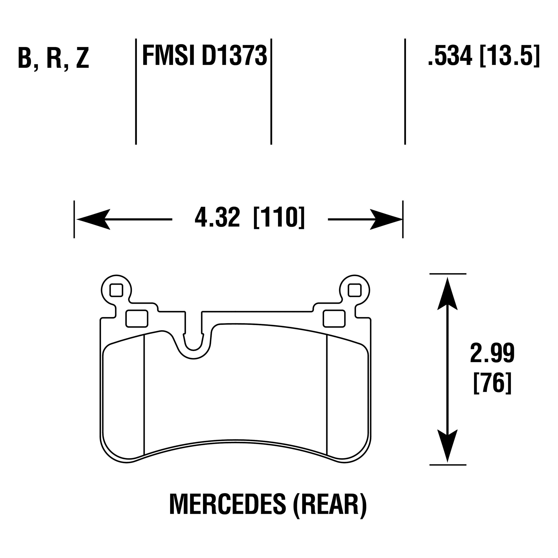 For Mercedes-Benz G63 AMG 13-16 Hawk High Performance Street 5.0 Rear Brake Pads