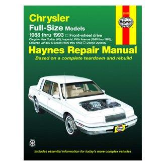 haynes manuals chrysler le baron 1992 repair manual rh carid com Chrysler Repair Manual 60 70 Chrysler Repair Manual 60 70