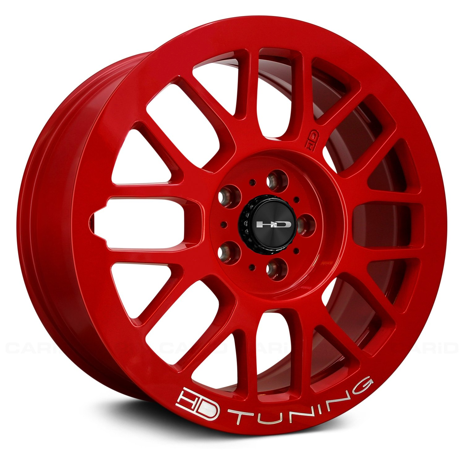 hd gear wheels gloss red rims