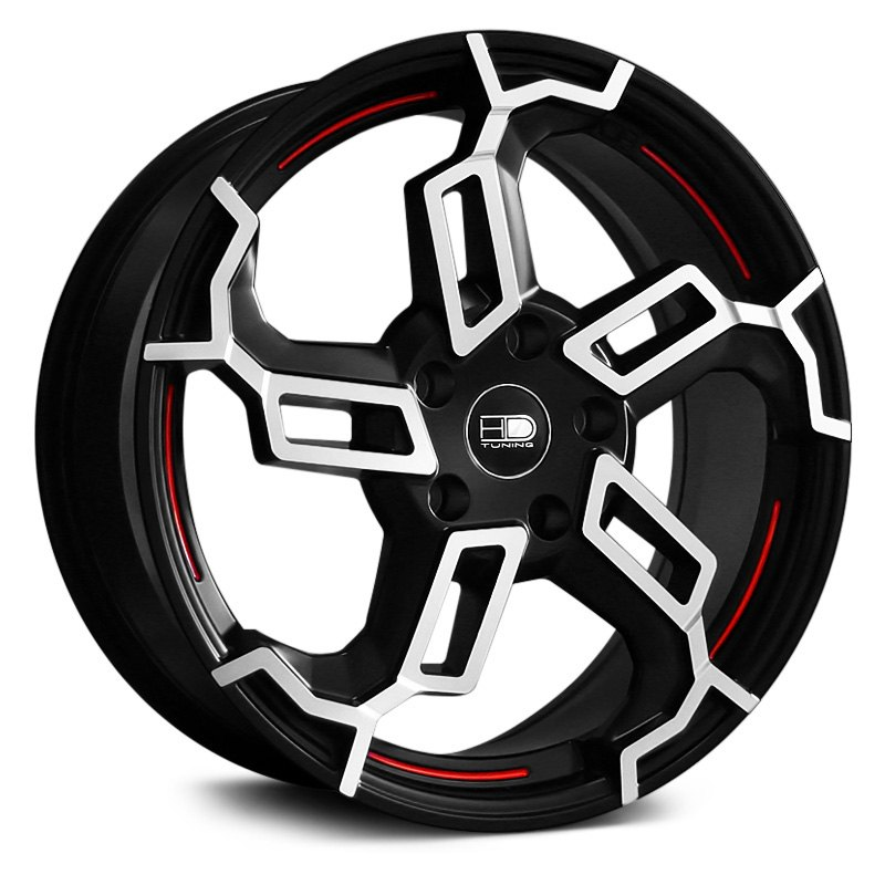 hd switch wheels black with machined face and red undercut accents rims. Black Bedroom Furniture Sets. Home Design Ideas