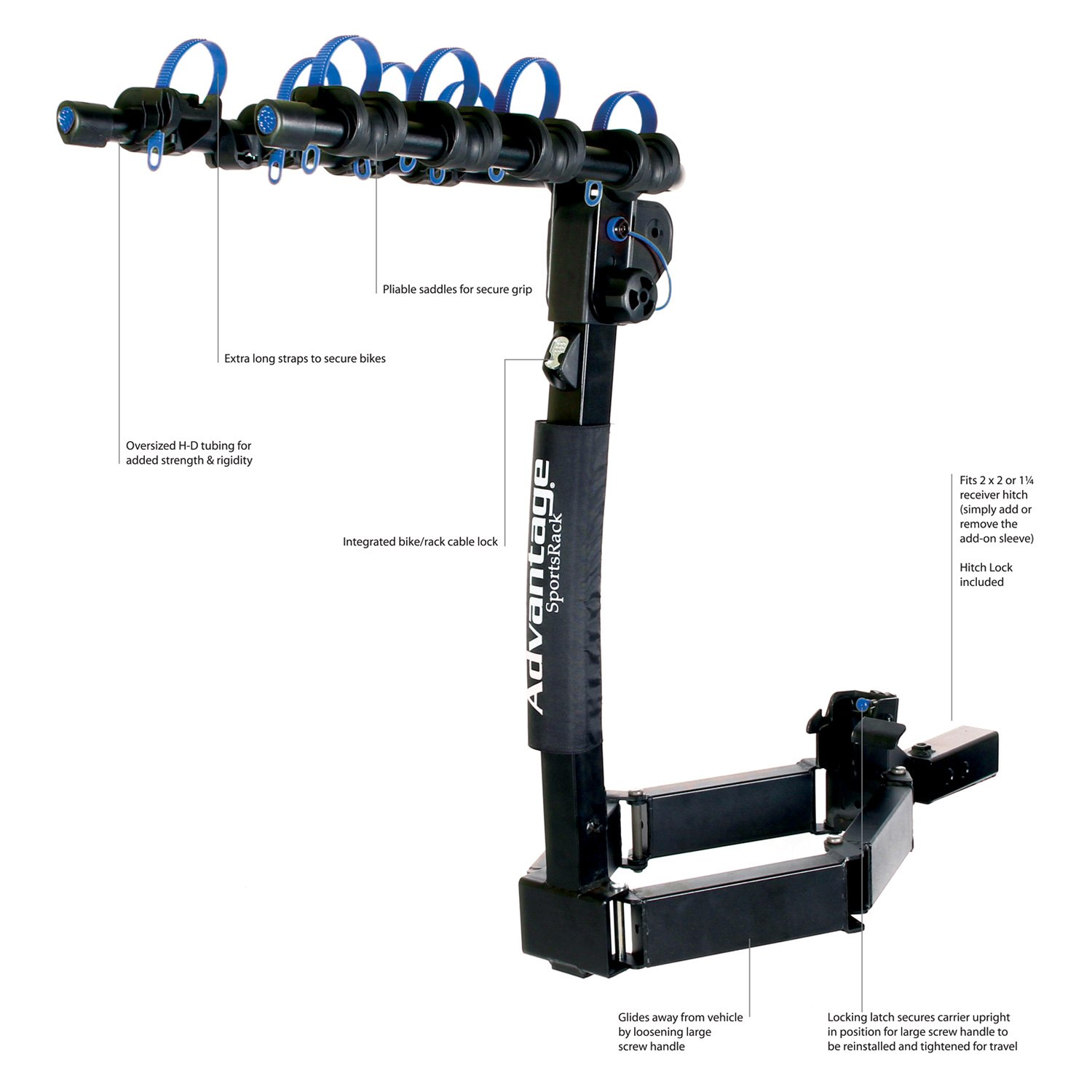 bicycle resource hitch car freedom ex rack saris rear carrier mount itm bike superclamp