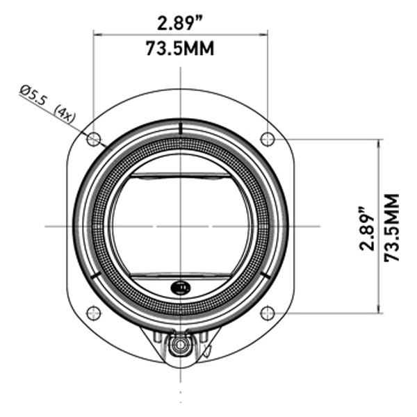 Hella® L4060 35 High Beam Round Halo Led Retrofit Projector With Turn Signal: Halo Led Wiring Diagram At Johnprice.co