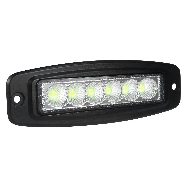 Hella ValueFit Mini Flush Mount 18W Slim Flood Beam LED Light Bar