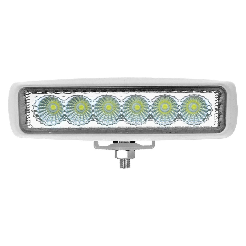 "Slim Led Garage Lights: ValueFit Mini 6"" 18W Slim White Housing"