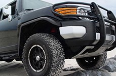 HELO® - HE791 8 SPOKES Gloss Black with Machined Bezel on Toyota FJ Cruiser