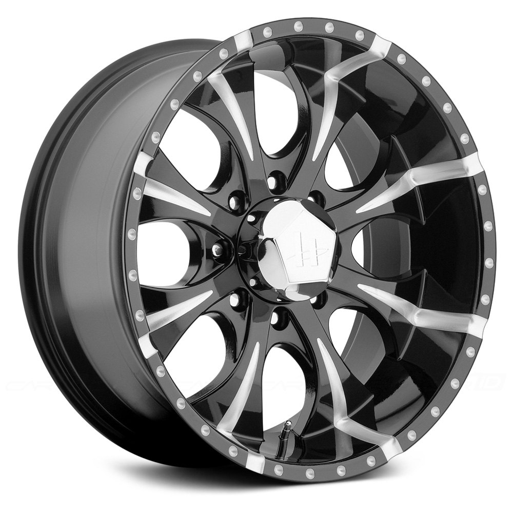 HELO® HE791 Wheels - Gloss Black with Milled Accents Rims