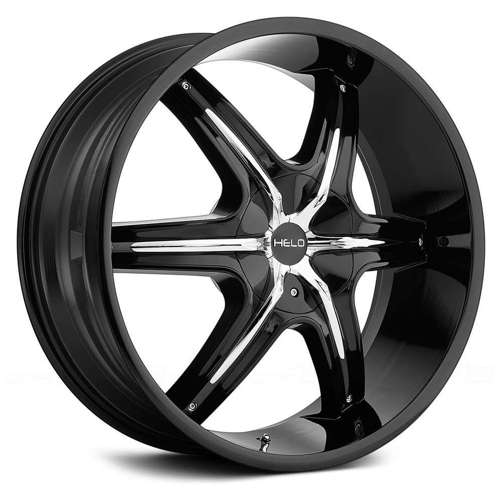 Helo 174 He891 Wheels Gloss Black With Chrome Inserts Rims