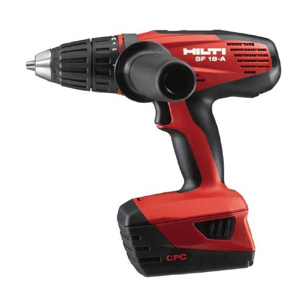 hilti sfh18 a 18v hammer drill driver with batteries charger and kit box. Black Bedroom Furniture Sets. Home Design Ideas