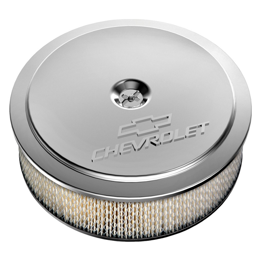 Holley Air Cleaner Assembly : Holley muscle series round white air cleaner