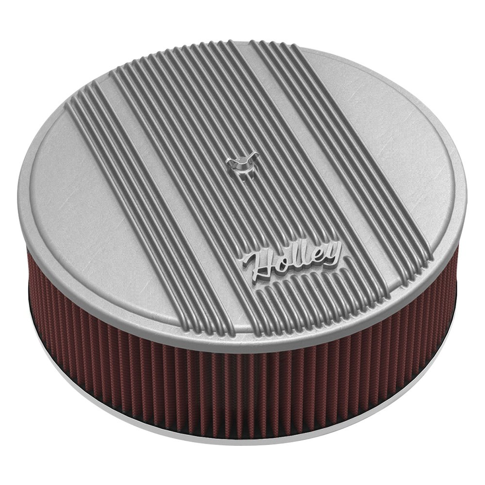 Holley Air Cleaner Assembly : Holley round red air cleaner assembly