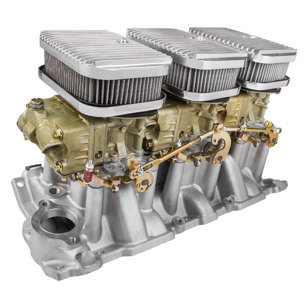 Carburetor Intake Manifold : Holley  cast dichromate intake manifold and