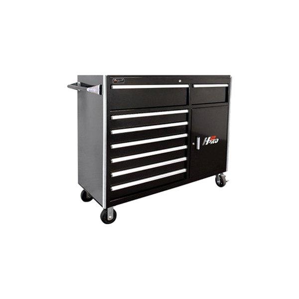 Homak bk04056082 56 h2pro series 8 drawer black roller for Roller sideboard