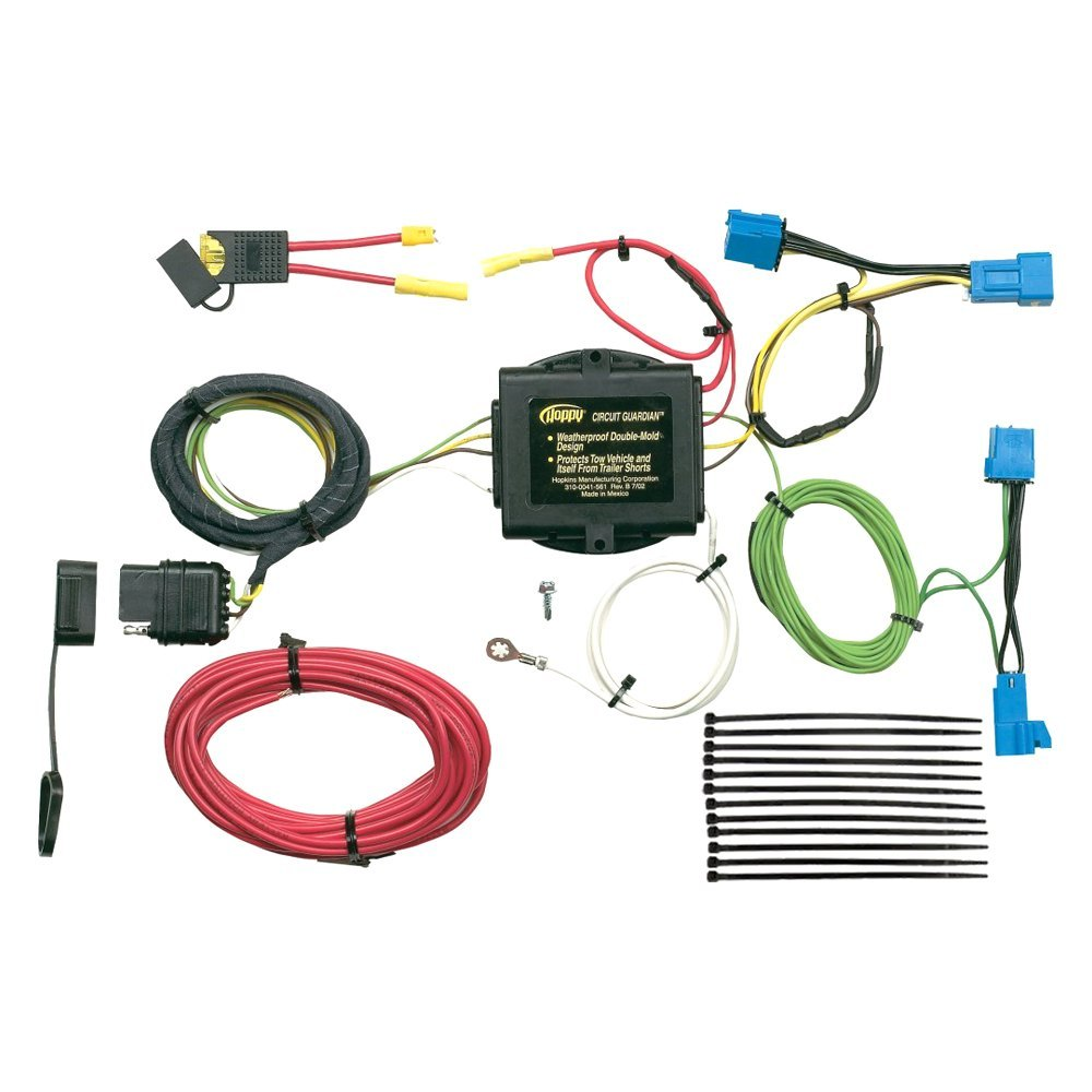 Hopkins® 11141495 - Plug-In Simple!® Towing Wiring Harness with 4-Flat on trailer hitch connector, trailer with electric brakes wiring-diagram, trailer brakes connector, trailer wiring fuse box, trailer lights connector, trailer spring connector, trailer light wiring, dodge trailer wiring connector, cable connector,