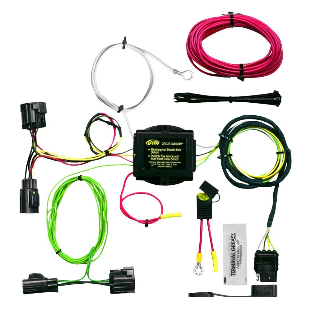 Hopkins Jeep Liberty 2010 Plug In Simple Towing Wiring Harness Trailer Hitch With 4 Flat