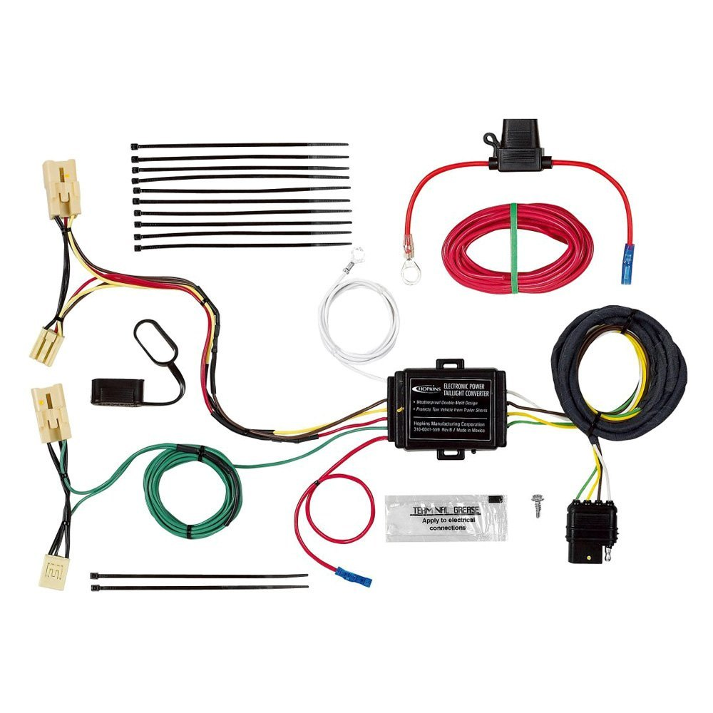 Hopkins Towing 11143874 Plug In Simple Wiring Harness Manufacturing Wire With 4 Flat