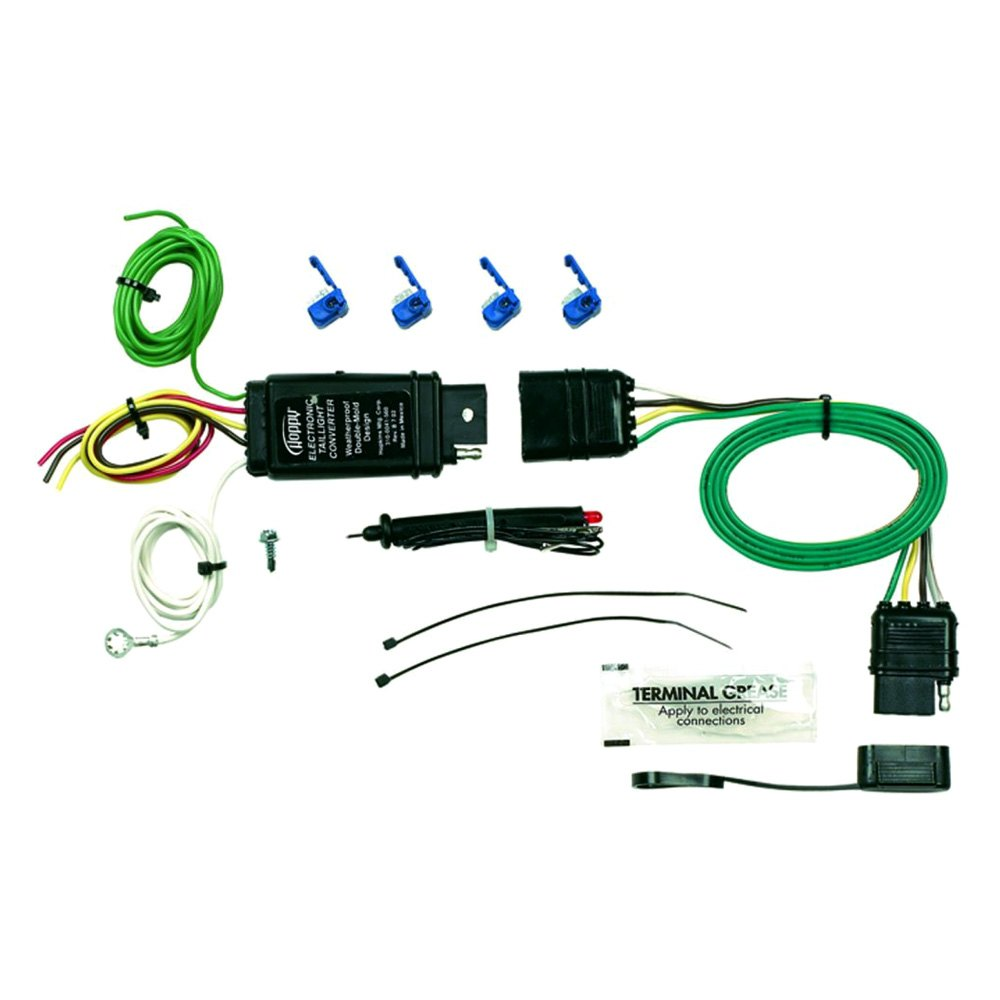 Hopkins    Towing   46155  4Wire Flat Kit with    Tail       Light       Converter