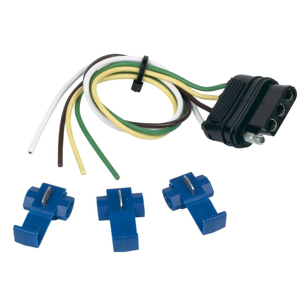hopkins 4 wire flat connector with splices rh carid com Vehicle Wiring Connectors Electrical Wire Connectors