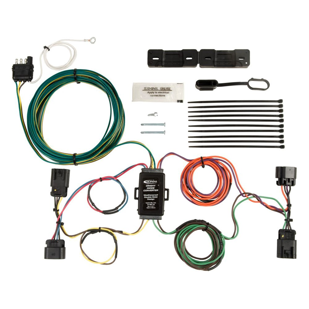 Vehicle Wiring Kit Diagrams Gauge Amp Amplifier Installation Power Kits Spak4bl Hopkins Towing U00ae 56102 Tail Light For Towed