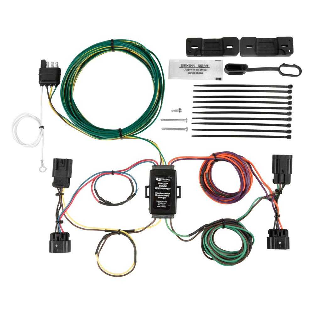 Hopkins Towing 56108 Tail Light Wiring Kit For Towed Vehicles 2016 Gmc Terrain Trailer Harness Kithopkins