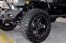 HOSTILE® - MOAB Satin Black with Milled Accents on Jeep Wrangler