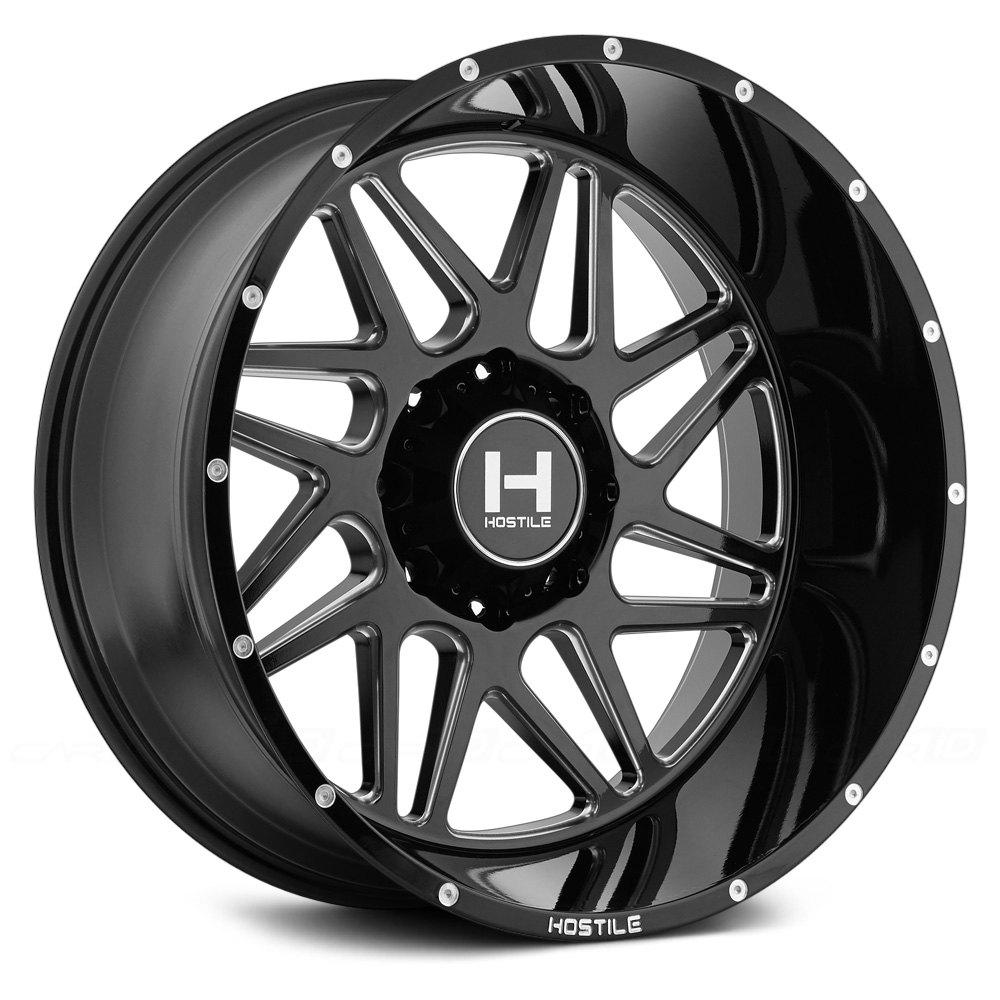 Hostile 174 Sprocket Wheels Satin Black With Milled Accents