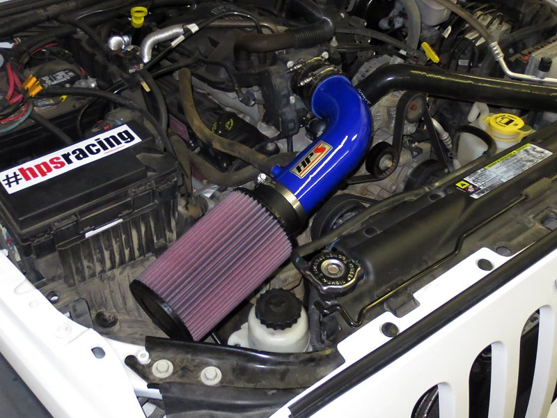 Ram Air Intake : Hps jeep wrangler l aluminum short ram air