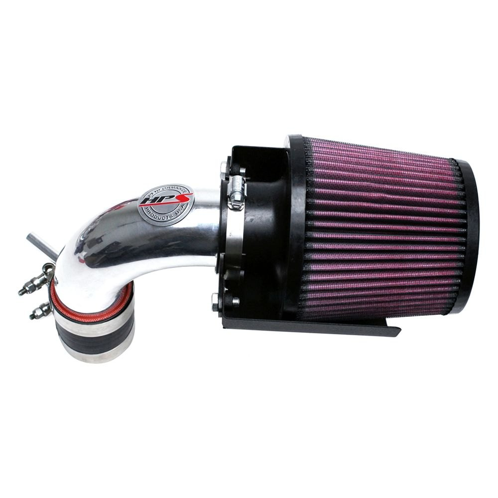 Ram Air Intake : Hps silicone hoses p aluminum polished short ram