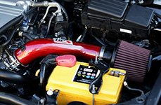 HPS Silicone Hoses® - Red Air Intake Installed