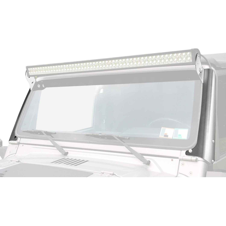 Hyline Offroad® 300.600.120 - Polished Aluminum Windshield Frame Mounts for  50\