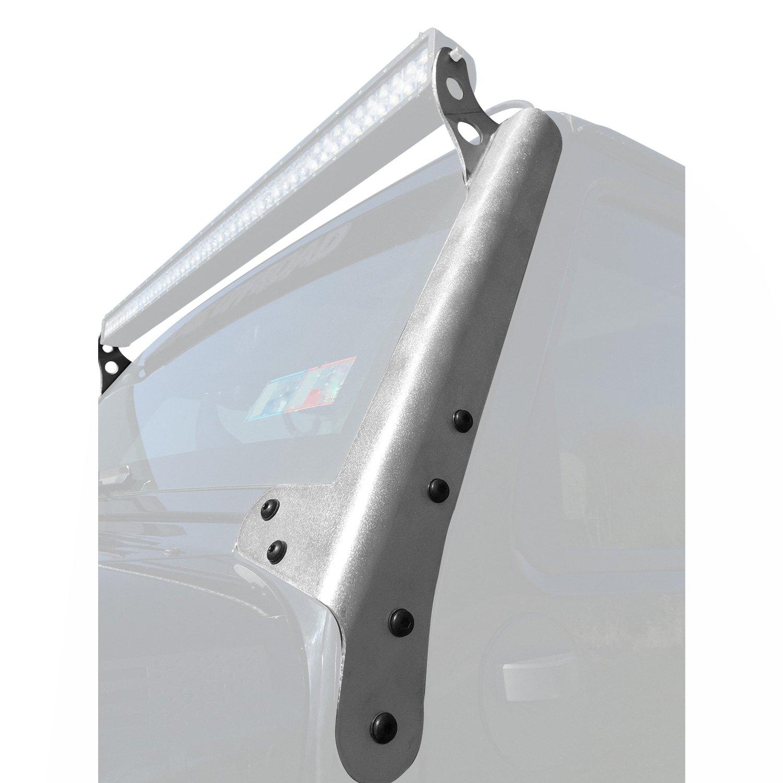 Hyline Offroad® 400.600.110 - Polished Aluminum Windshield Frame Mounts for  50\
