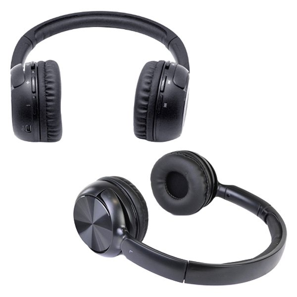 hype hy 10486 blk 6pk black ultra slim bluetooth wireless rechargeable stereo headphones with. Black Bedroom Furniture Sets. Home Design Ideas