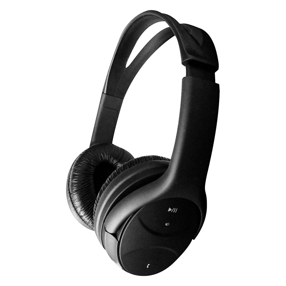hype hy 980 bt black one touch bluetooth wireless rechargeable stereo headphones with microphone. Black Bedroom Furniture Sets. Home Design Ideas