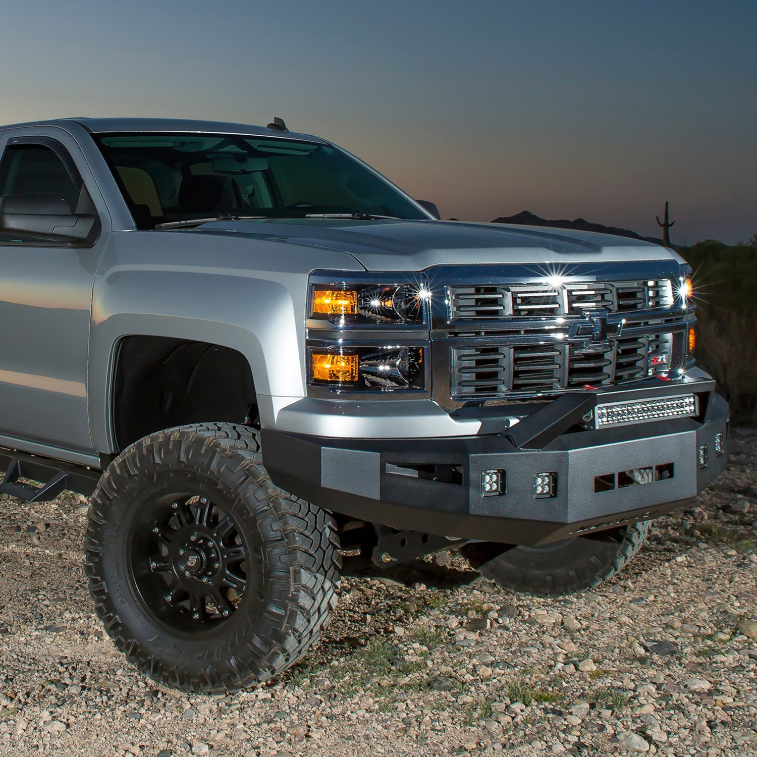 ici chevy silverado 1500 2500 2014 magnum full width black front hd bumper with rt series. Black Bedroom Furniture Sets. Home Design Ideas
