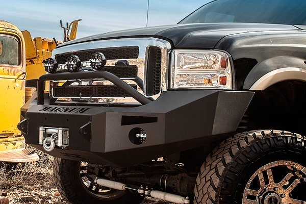 2006 Ford F250 Front Bumper >> Details About For Ford F 250 Super Duty 05 07 Bumper Magnum Full Width Black Front Winch Hd