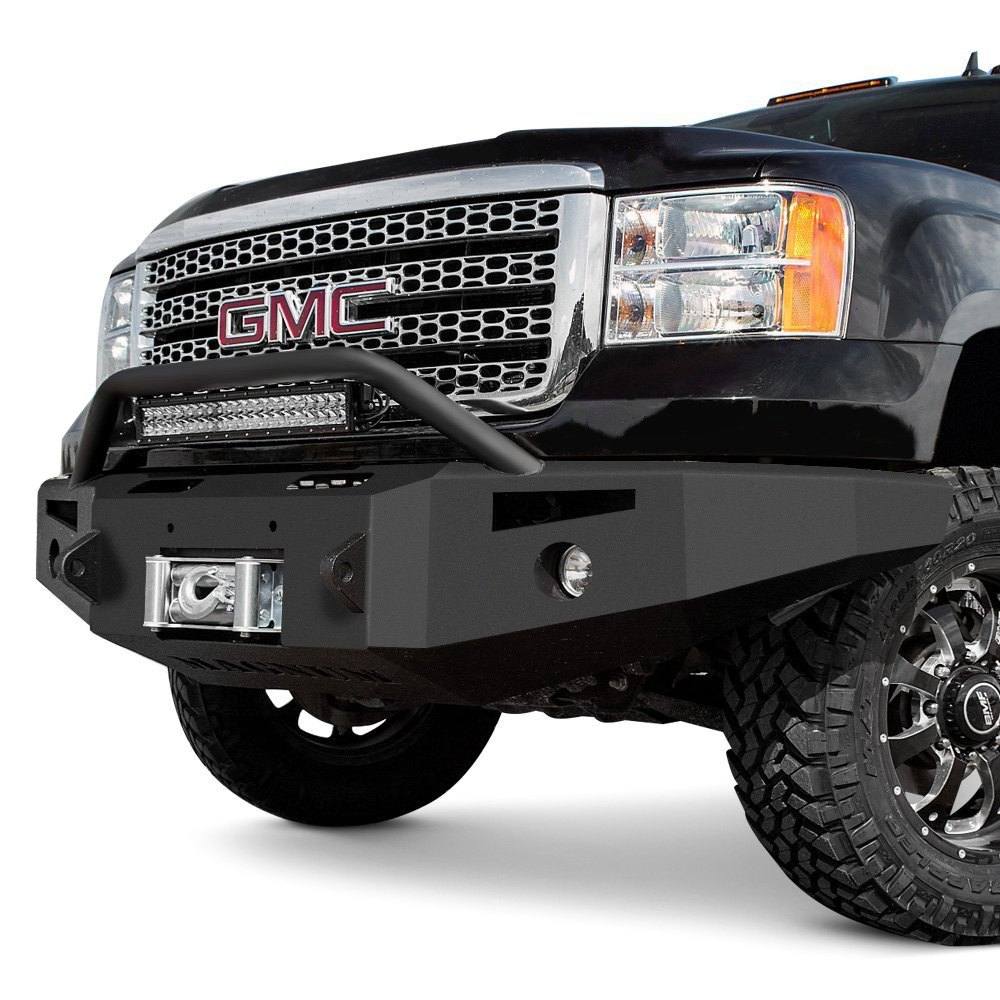 Heavy Duty Front Steel Bumper With Winch Mount Da5645 For: For Dodge Ram 2500 06-09 Bumper Magnum Full Width Black