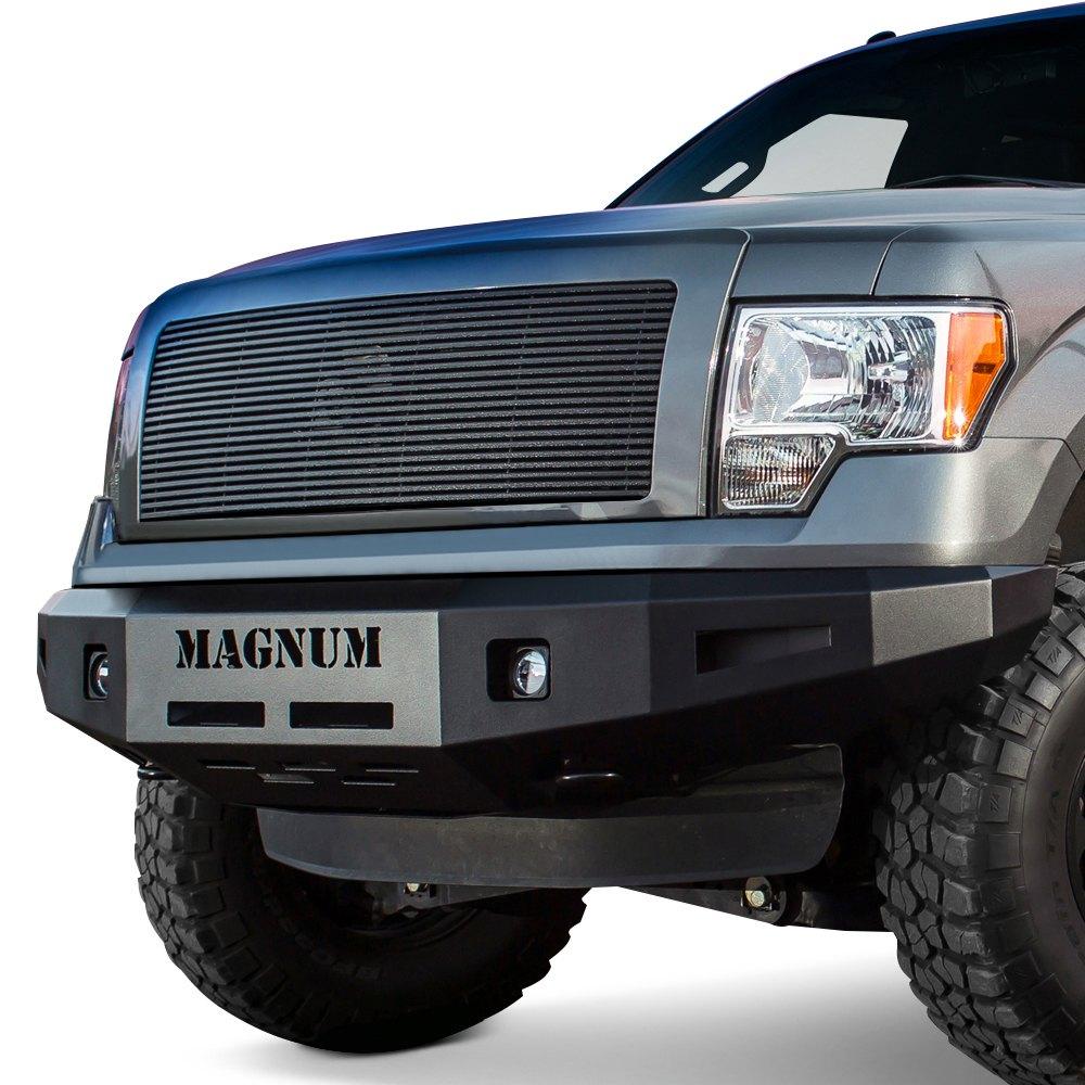 Off Road Bumpers F150 >> ICI® - Ford F-150 2012 Magnum™ Full Width Black Front HD Bumper