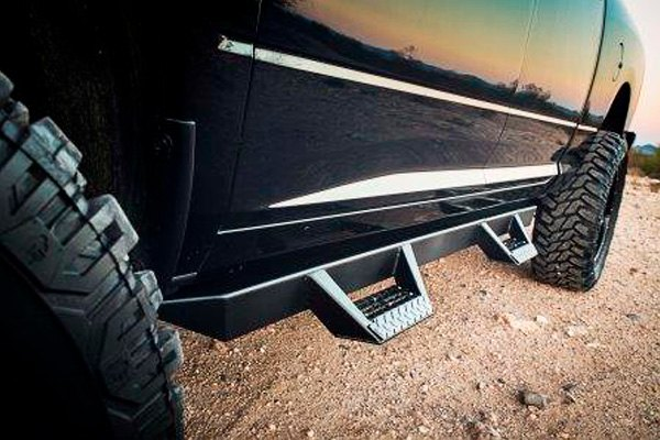 Go Rhino Running Boards >> ICI® - Dodge Ram 2009 Magnum™ RT Series Cab Length Black Side Steps