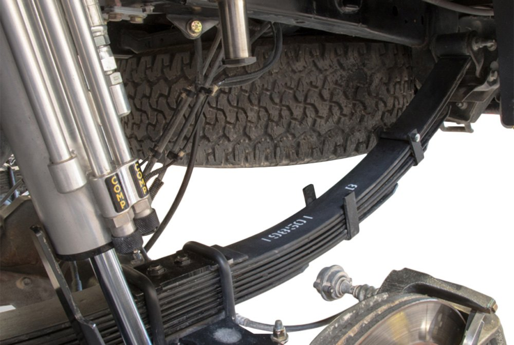 "ICON Vehicle Dynamics® 95220 - 4"" Rear Lifted Leaf Springs"