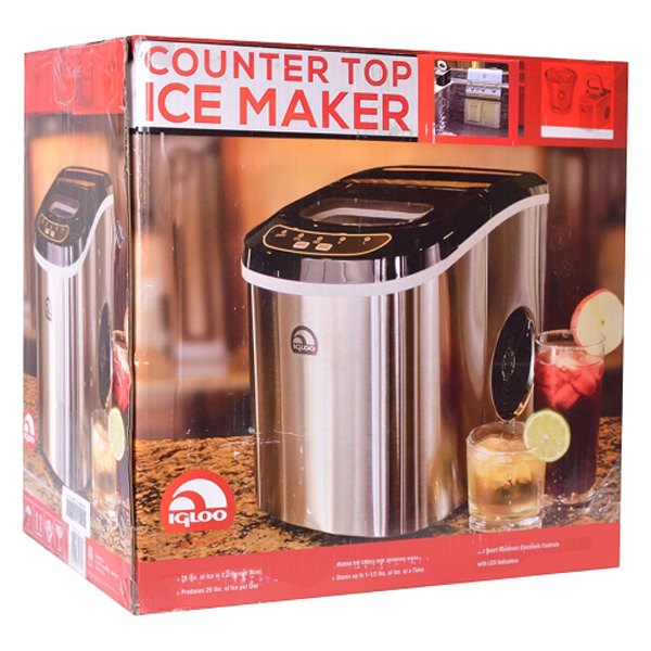 Igloo? ICE102ST-RC - Portable Stainless Steel Countertop Ice Maker