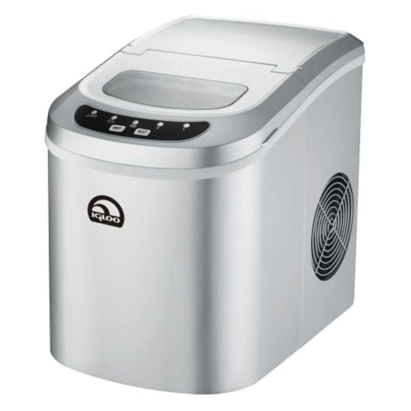 Countertop Ice Maker Canada : Igloo? ICE102SILVER - Silver Countertop Ice Maker 24LBS/24HRS