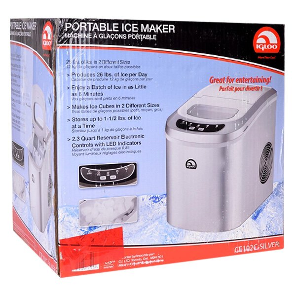 Igloo? ICE102C-SILVER-RC - 2nd Style Silver Counter Top Ice Maker