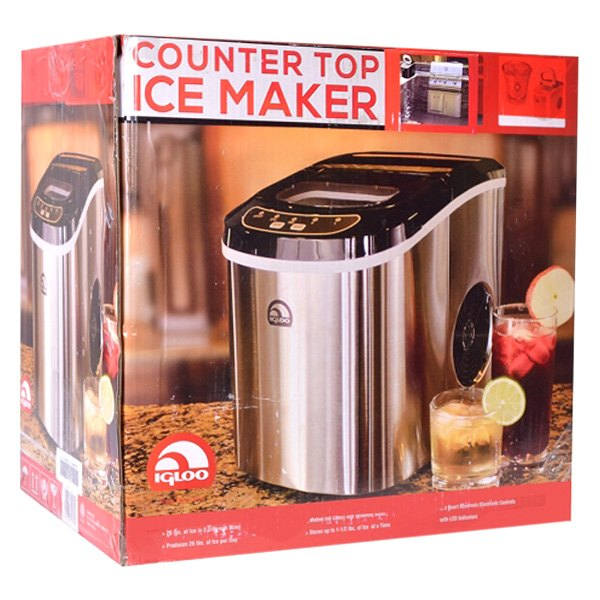 Igloo? ICE102ST-RC - 2nd Style Stainless Steel Design Counter Top Ice ...