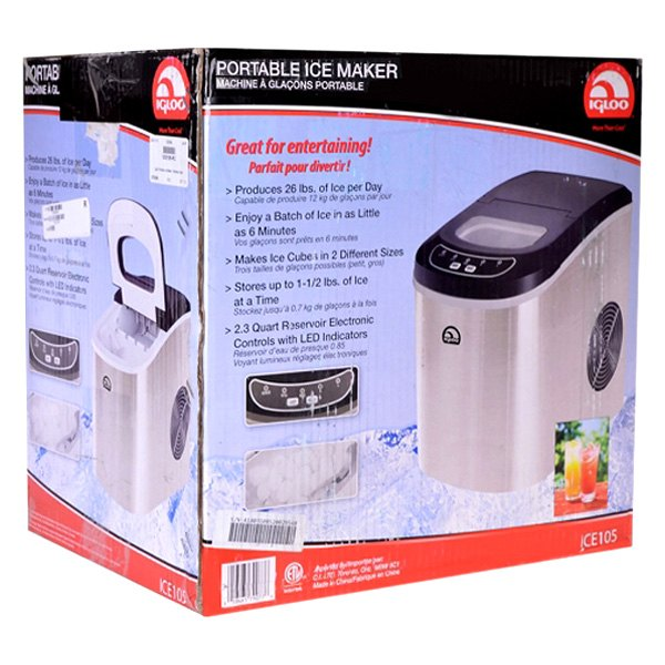 Igloo Ice102st Countertop Ice Maker : Igloo? - 5th Style Stainless Steel Design Counter Top Ice Maker, Shop ...