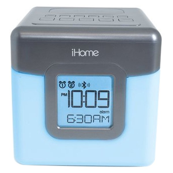 ihome ibt28gc led color changing dual alarm clock radio with usb charging. Black Bedroom Furniture Sets. Home Design Ideas